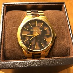 Authentic Michael Kors Watch tortoise shell/ gold
